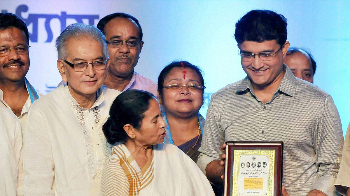 Sourav Ganguly was selected as the new President of the Cricket Association of Bengal in 2015 by West Bengal Chief Minister Mamata Bannerjee.