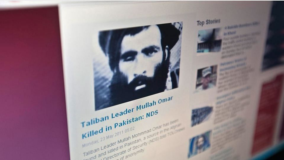 A 2011 news report about the death of Taliban leader Mullah Omar. (Photo: Reuters)