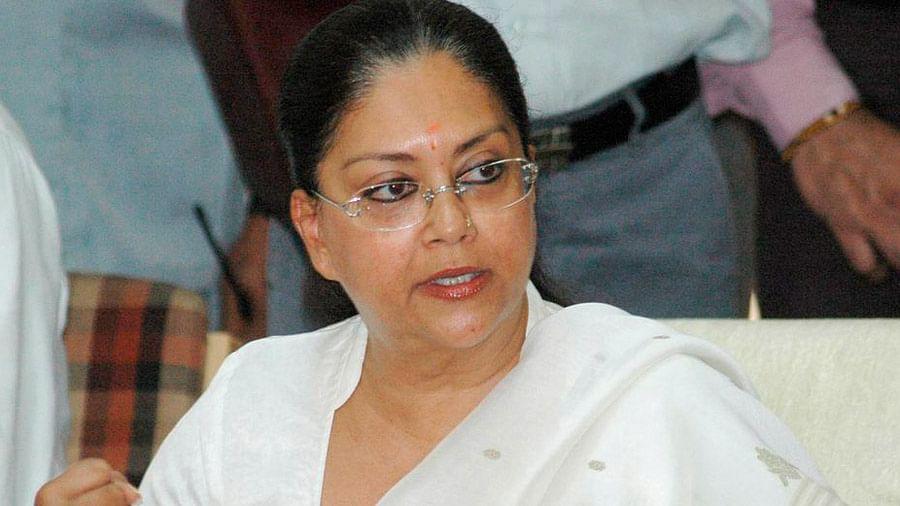 File photo of Rajasthan CM Vasundhara Raje.