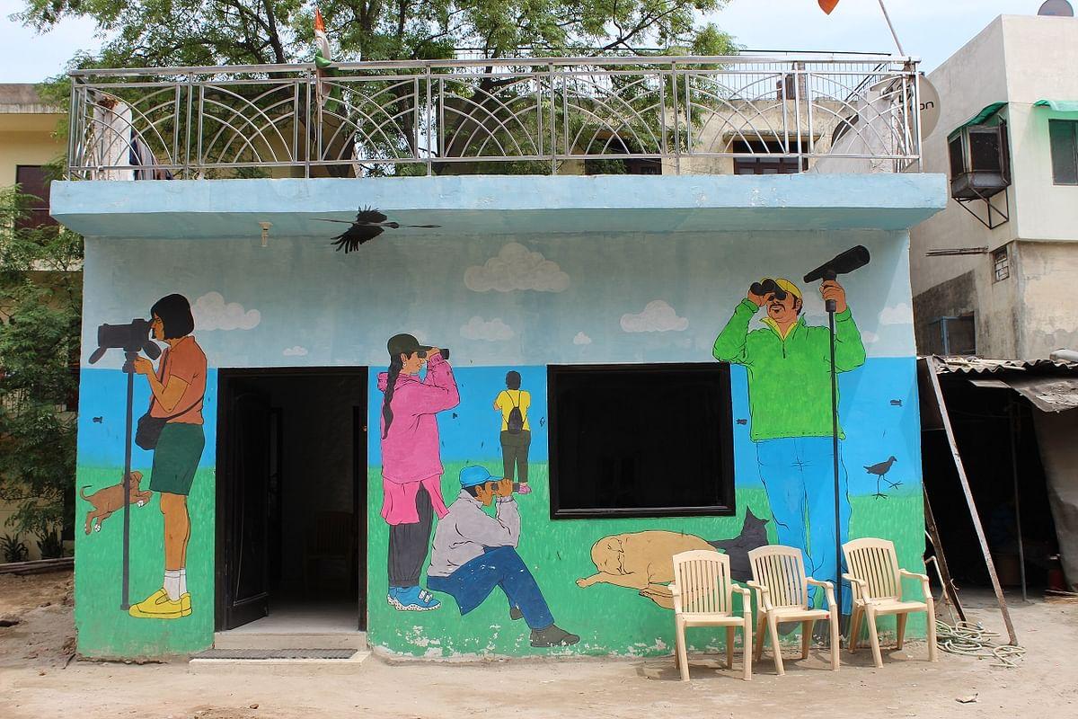 A 12-foot high mural at Shahpur Jat, New Delhi. (Photo: Ruchin Soni)