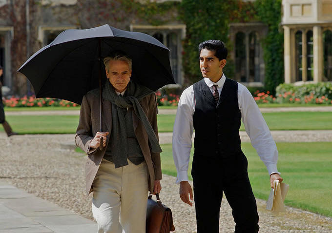 Jeremy Irons and Dev Patel in <i>The Man Who Knew Infinity</i>
