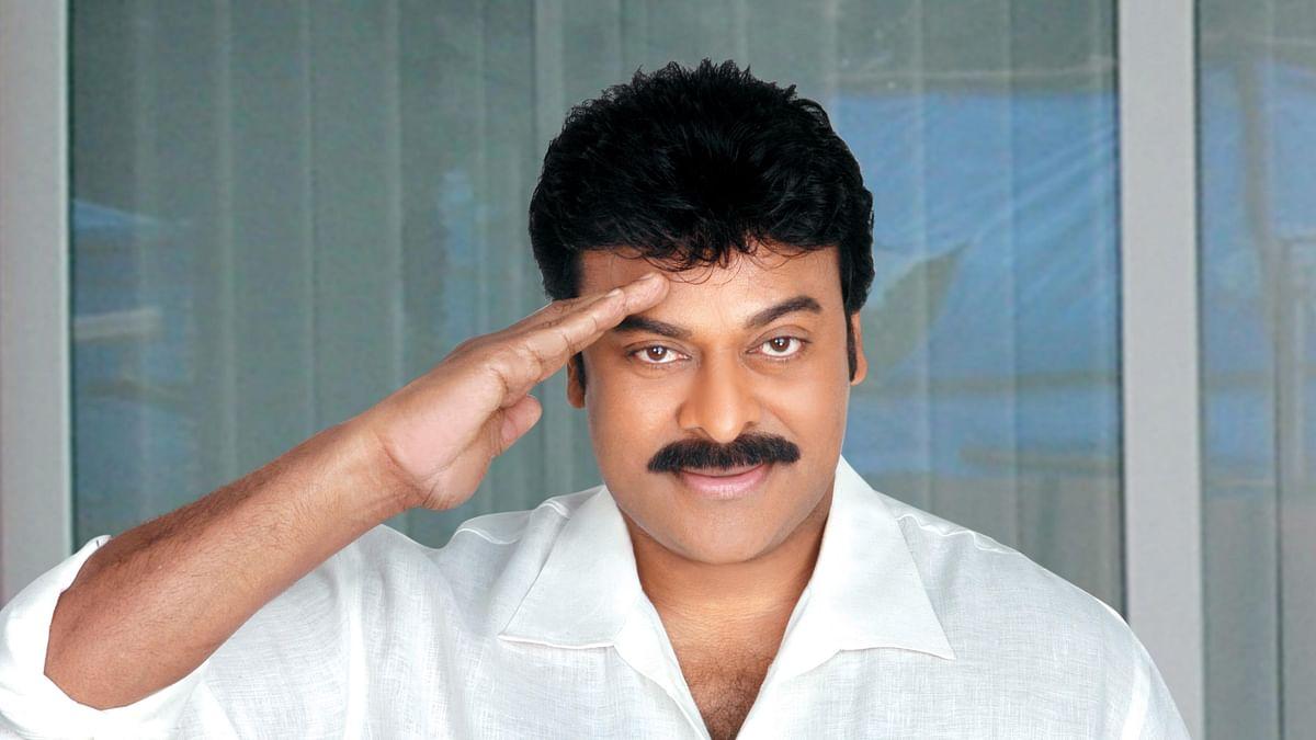 Telugu superstar Chiranjeevi.
