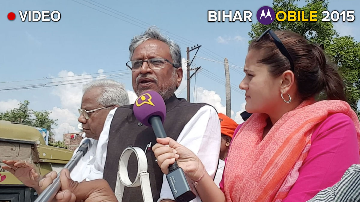 BJP leader Sushil Modi in an exclusive velfie interview with <b>The Quint</b>. (Photo: <b>The Quint</b>)