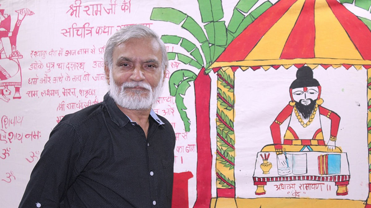 Bhanu Dudhat's painting has 88 panels. (Photo Courtesy: The News Minute)