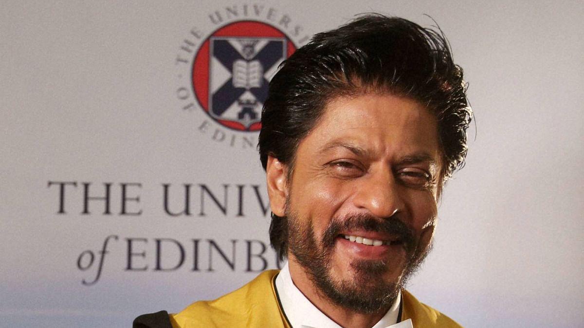 Shah Rukh Khan at the Edinburgh University in Britain. (Photo: PTI)