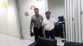 """A smiling Chhota Rajan after he was held by Indonesian authorities. (Courtesy: NCB-Interpol, Indonesia. Enhanced by <b>The Quint</b>)<a href=""""http://www.thequint.com/section/India""""></a>"""