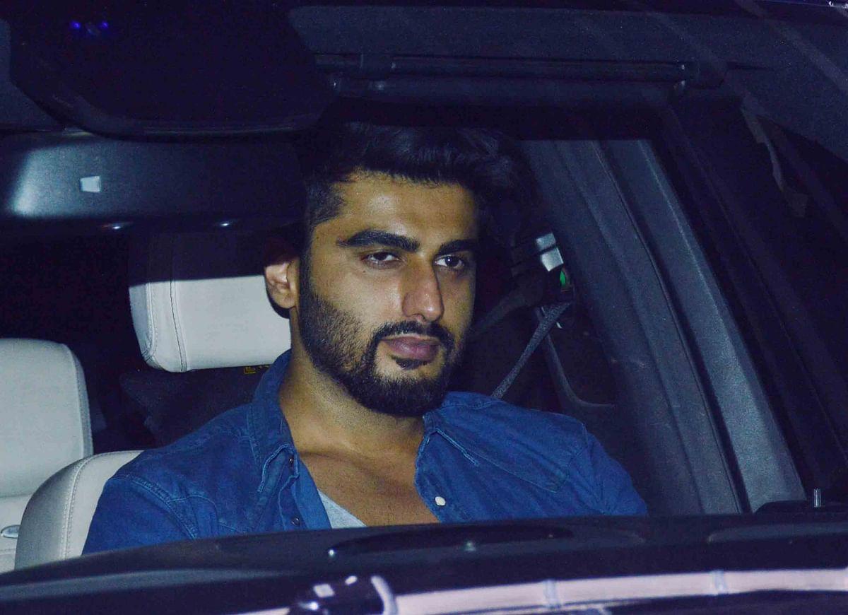 Arjun Kapoor arrives at the party. (Photo: Yogen Shah)