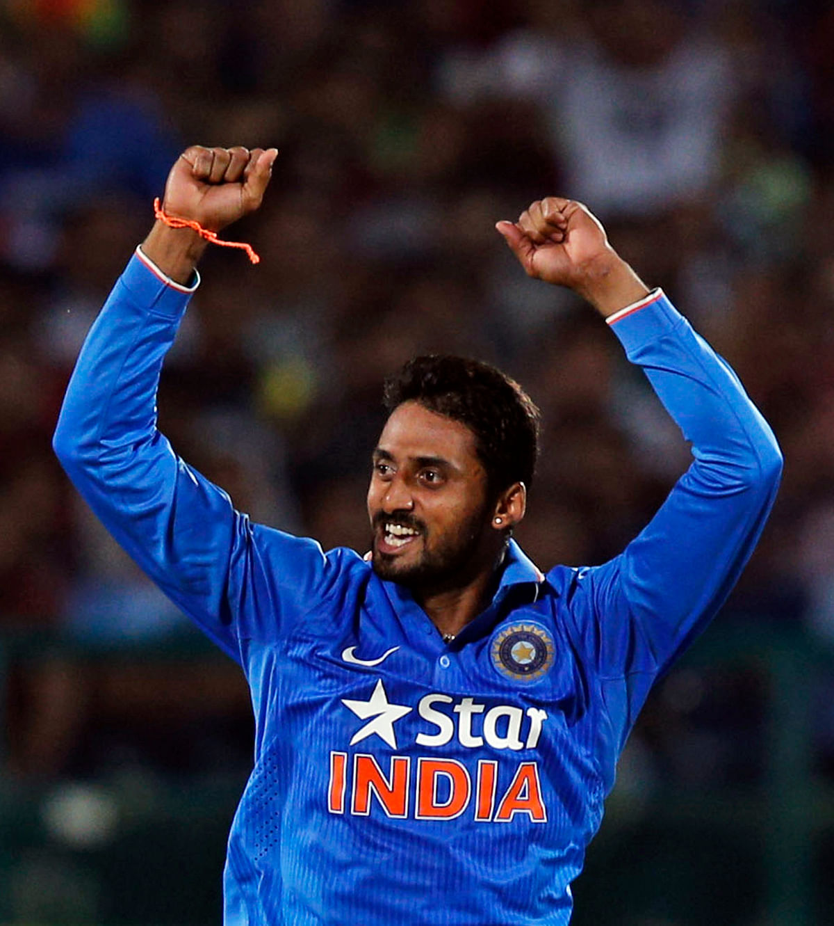 S Aravind made his debut for India on 2nd October in a T20 game vs SA. (Photo: AP)