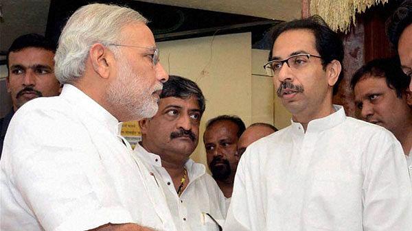 File image of Shiv Sena chief Uddhav Thackeray and Narendra Modi.