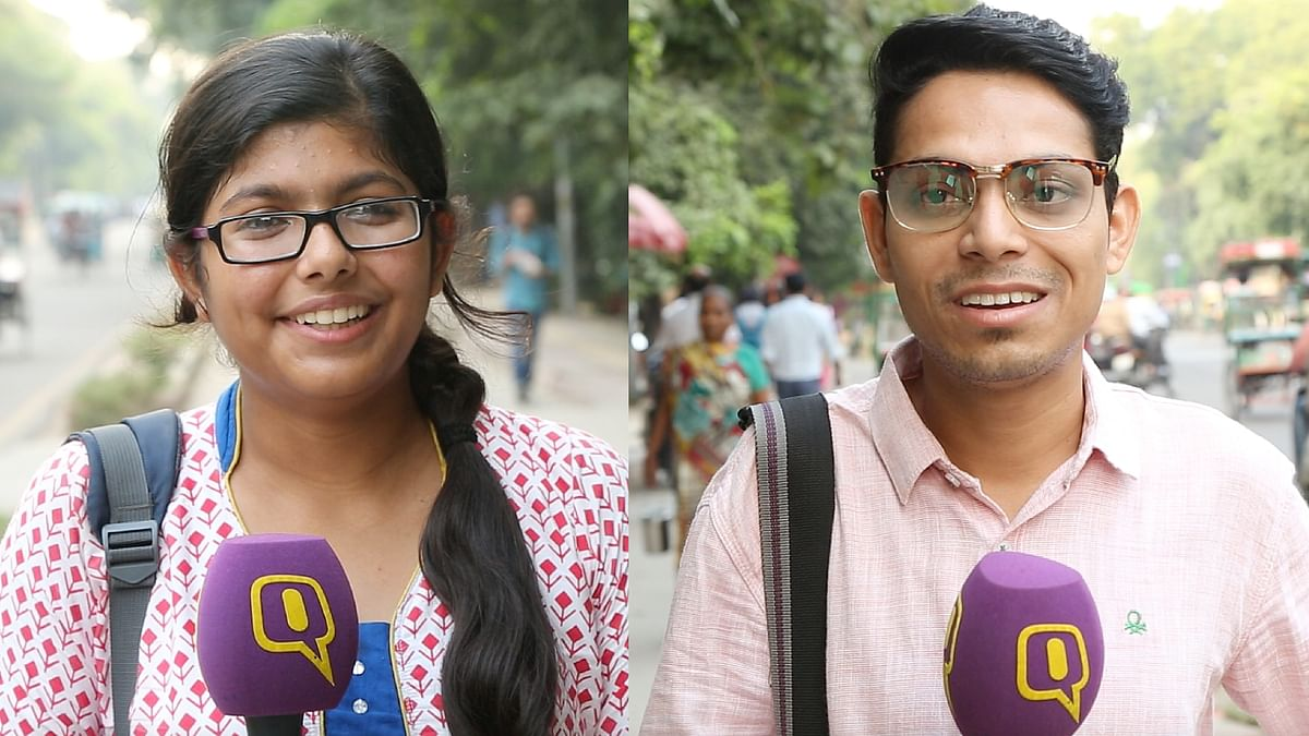 The two students whom we spoke with initially. Do they look unwilling?(Photo: The Quint)