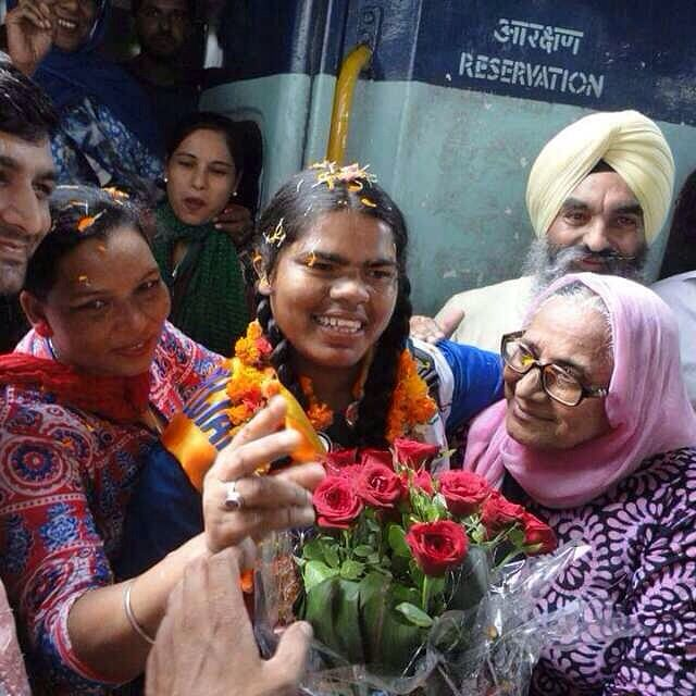 Dolly on her return from the Special Olympics. (Courtesy: Special Olympics Bharat)