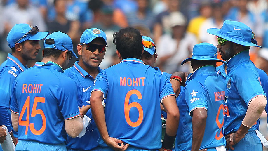 """""""The wicket was a bit of too true for the spinners as well as the fast bowlers,"""" said MS Dhoni after the match. (Photo: BCCI)"""