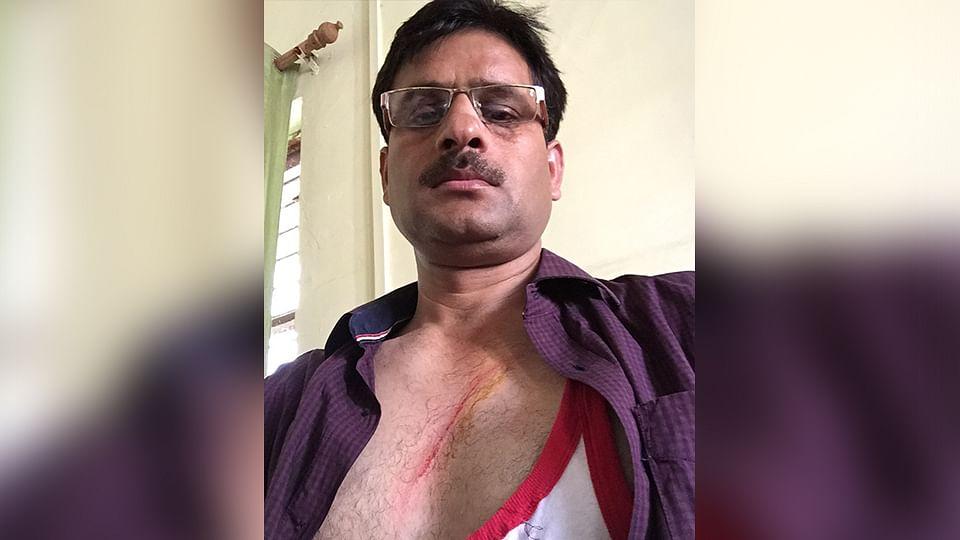 Praveen Yadav, the Station Officer of Dankaur Police Station. (Photo: Praveen Yadav)
