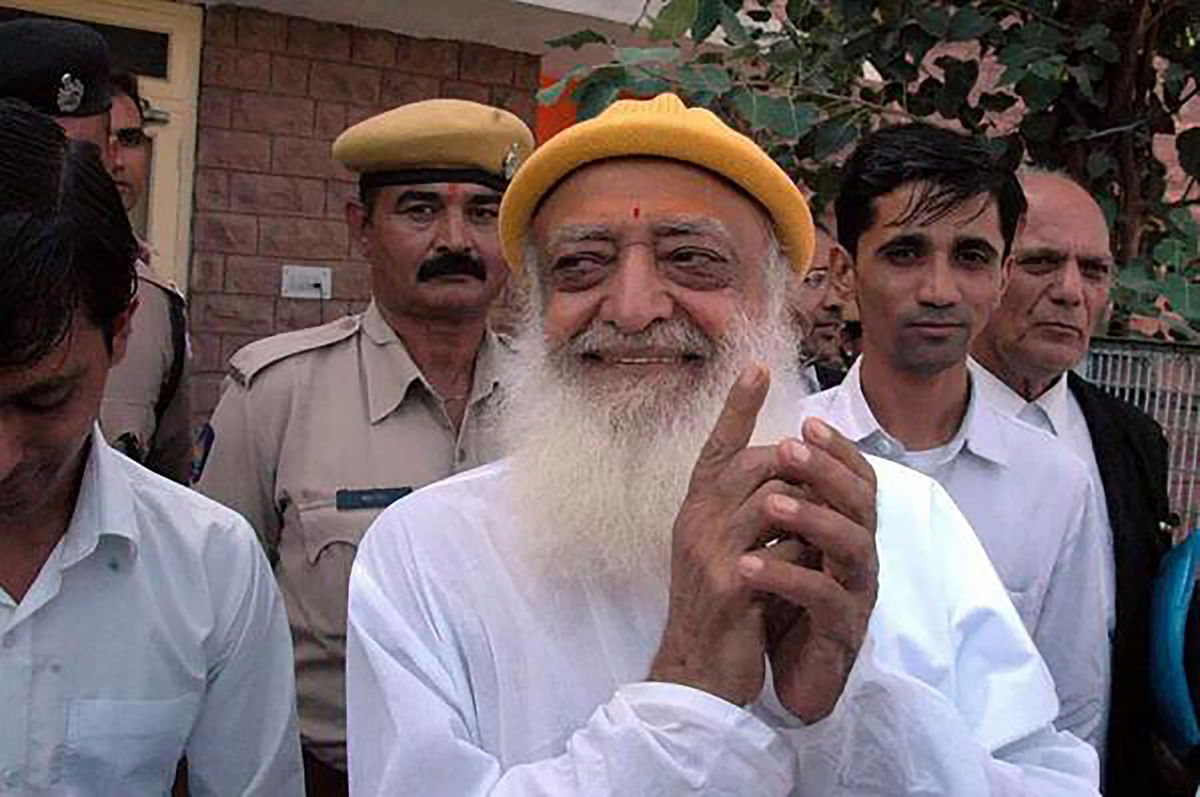 """Asaram claims he is an elderly person and has been charged falsely. (Photo: <a href=""""https://twitter.com/TruthRoars/status/654153921250787328"""">Twitter</a>)"""