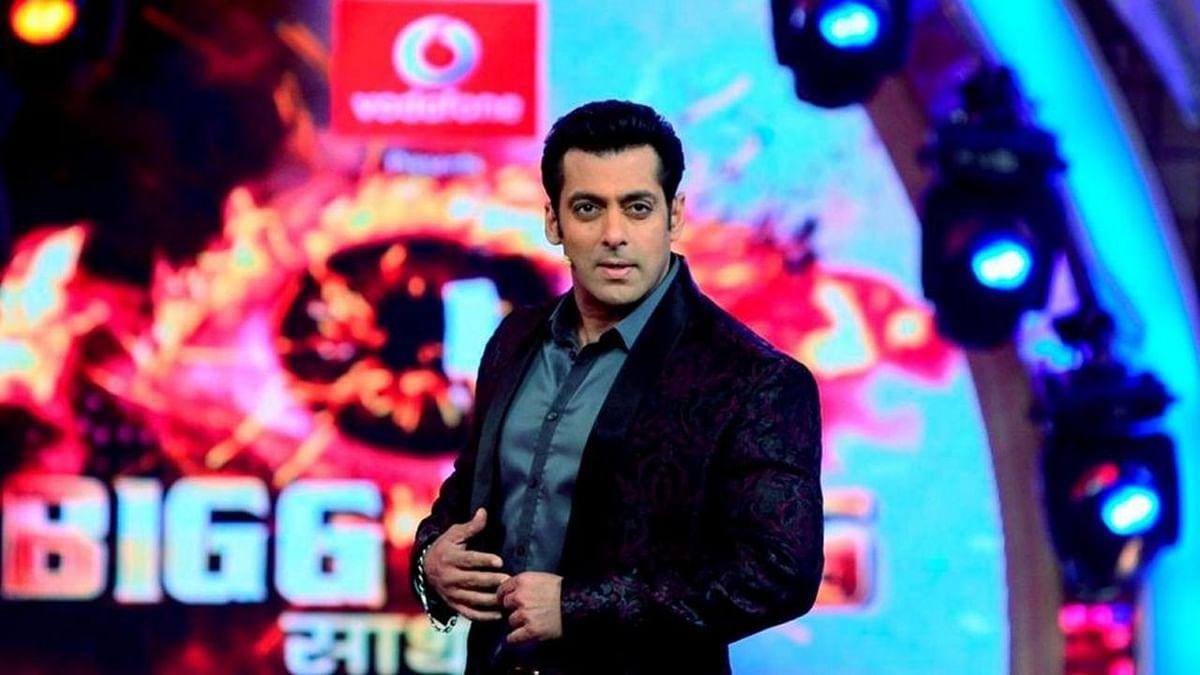 Salman Khan smoulders on the set of <i>Bigg Boss</i>.