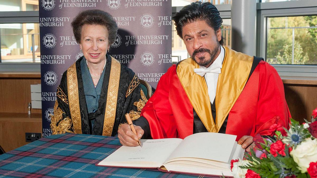 Shah Rukh Khan has been awarded the degree of Doctor Honoris Causa by the University of Edinburgh. (Photo: facebook/ Edinburgh University)
