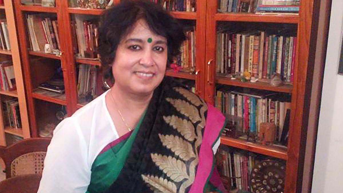 Critically acclaimed Bangladeshi author Taslima Nasreen.