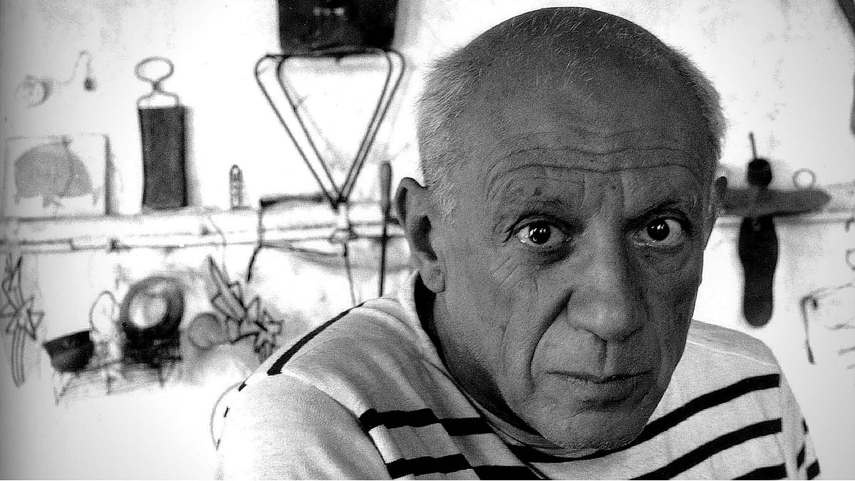 "Pablo Picasso. (Photo Courtesy: <a href=""http://thedepartmentofnews.com/dads-of-all-descriptions/pablo-picasso-1952/"">The Department of News</a>)"