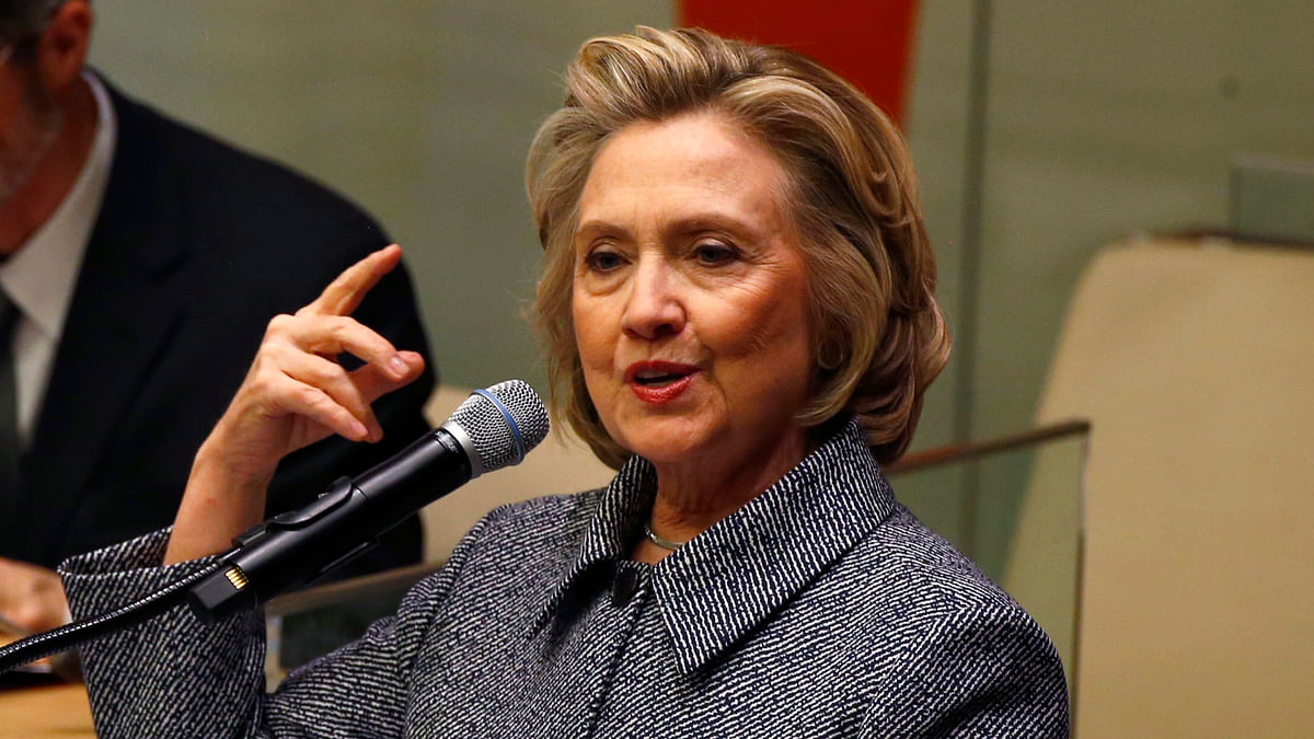 US Presidential Candidate Hillary Clinton. (Photo: Reuters)