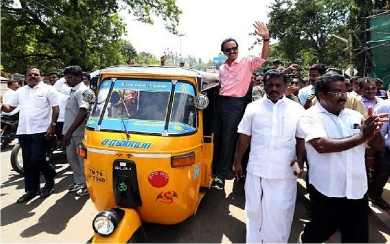 DMK's heir apparent, MK Stalin has embarked on a road-trip across Tamil Nadu. (Photo Courtesy: The News Minute)