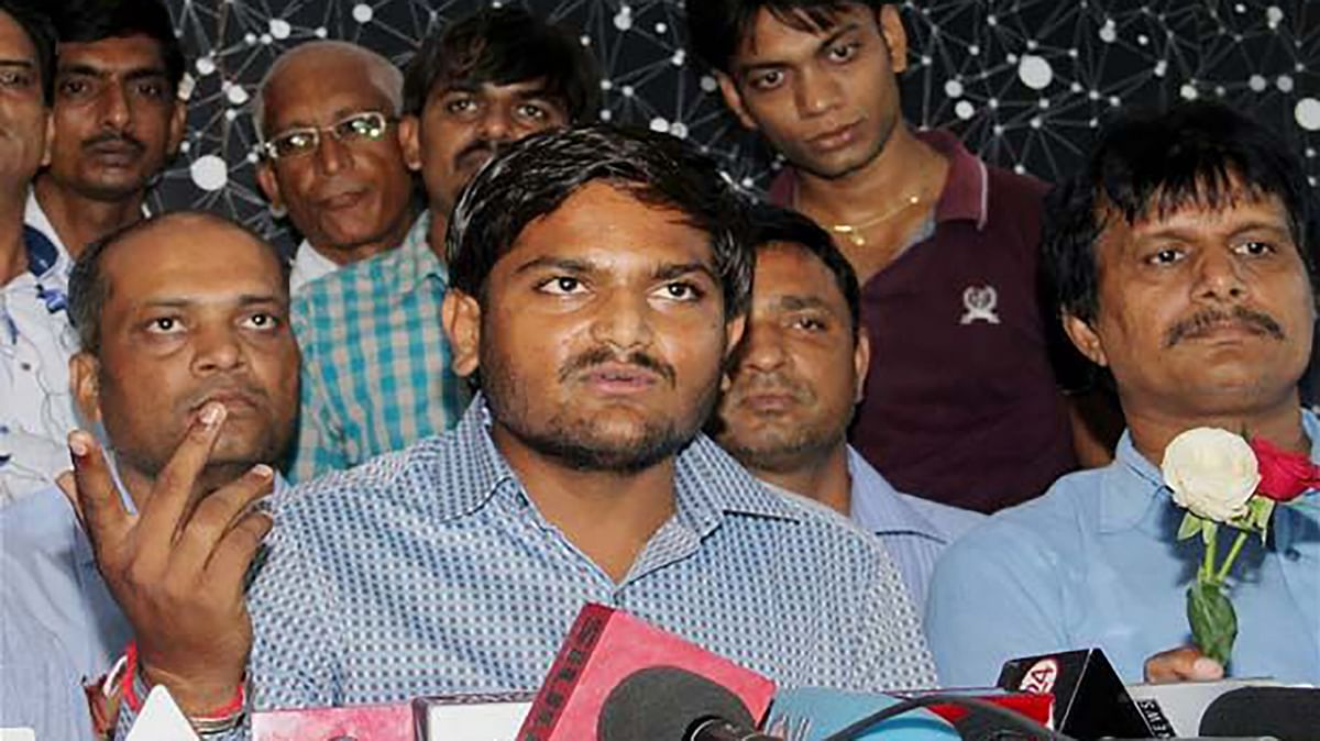 Hardik Patel's feet allegedly touched the national flag. (Photo: PTI)