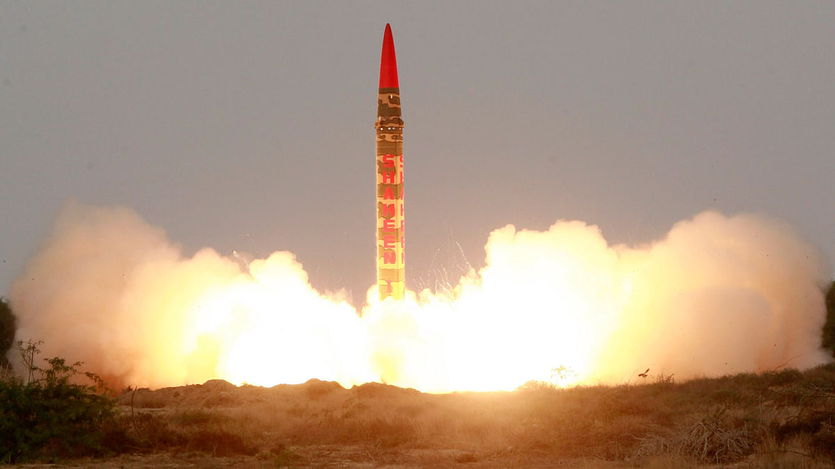 File picture of Pakistan's medium-range Shaheen-1 ballistic missile taking off during a test flight from an undisclosed location in Pakistan. (Photo: Reuters)