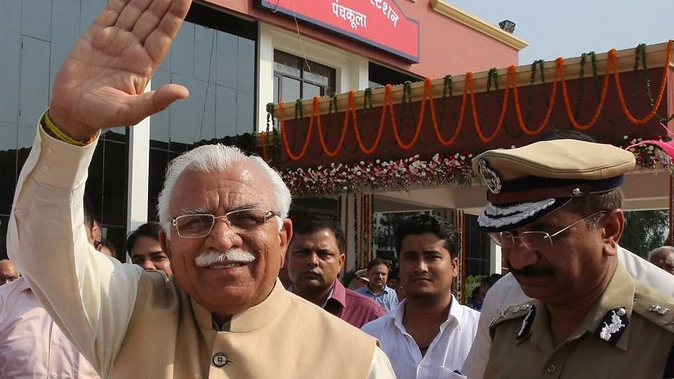 """Haryana Chief Minister Manohar Lal Khattar.<a href=""""http://www.thequint.com/section/India""""></a>"""