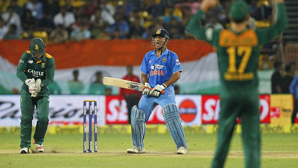 India lost the third ODI in Rajkot to South Africa by 18 runs. (Photo: Reuters)
