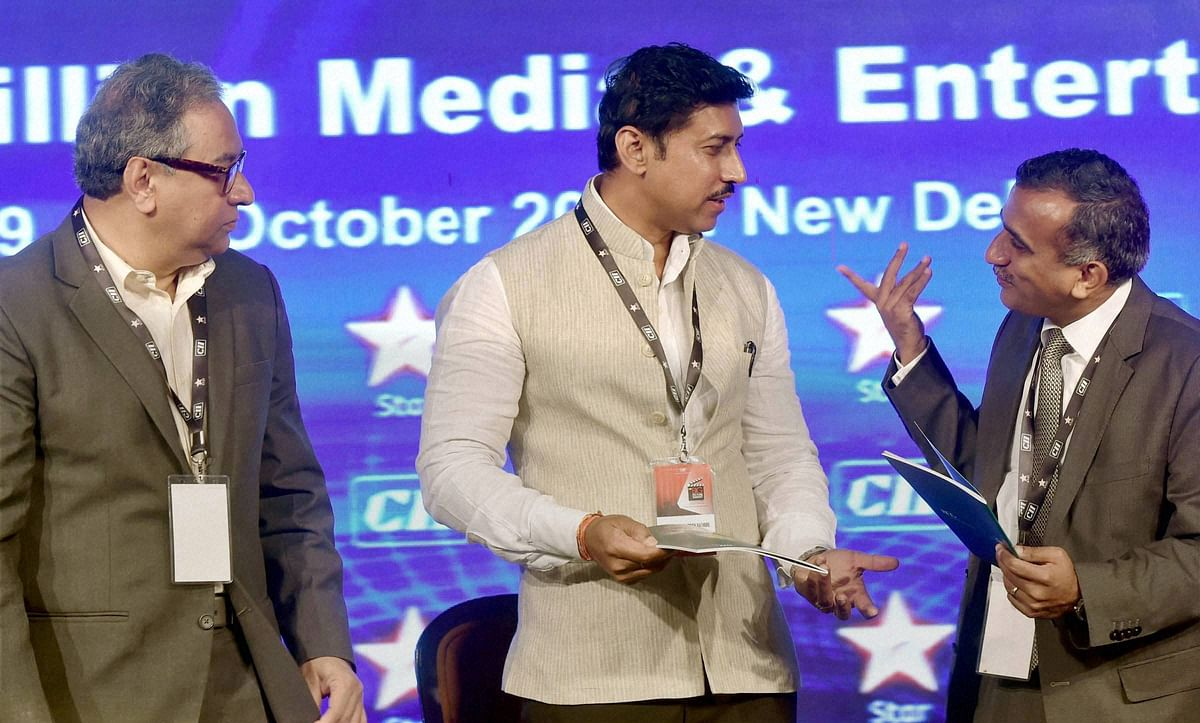Rajyavardhan Rathore said paucity of funds is one of the reasons there was not much investment going into training of journalists. (Photo: PTI)