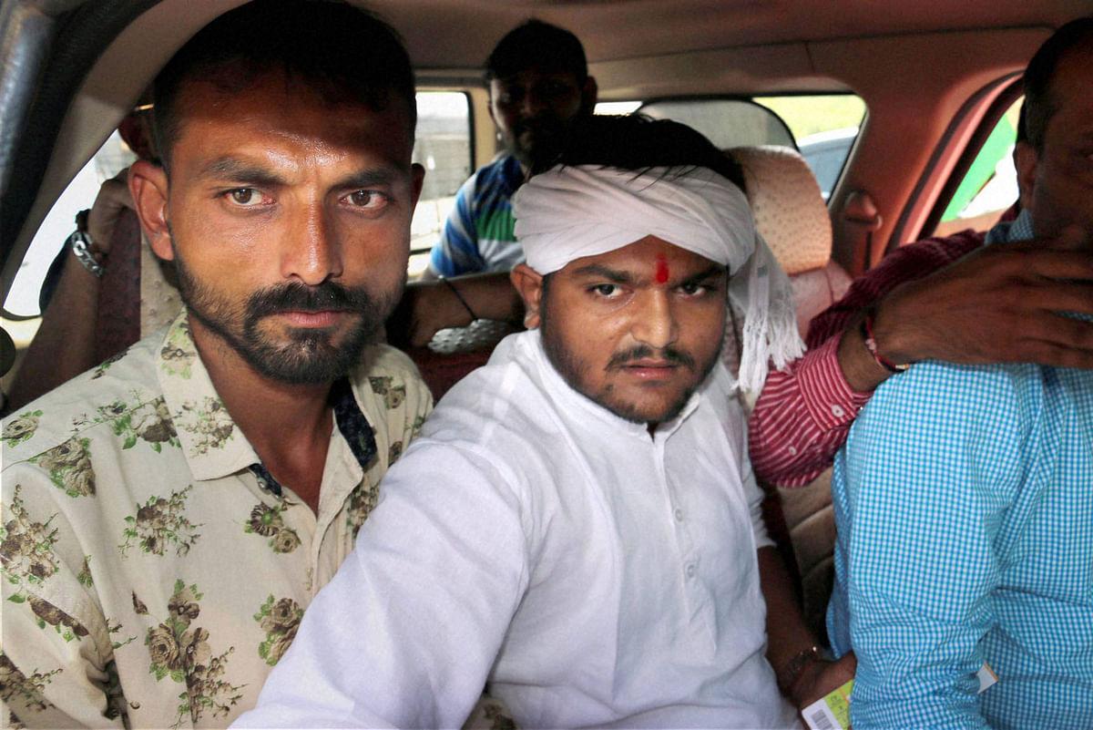 Patel quota agitator, Hardik Patel detained near Rajkot. (Photo: PTI)