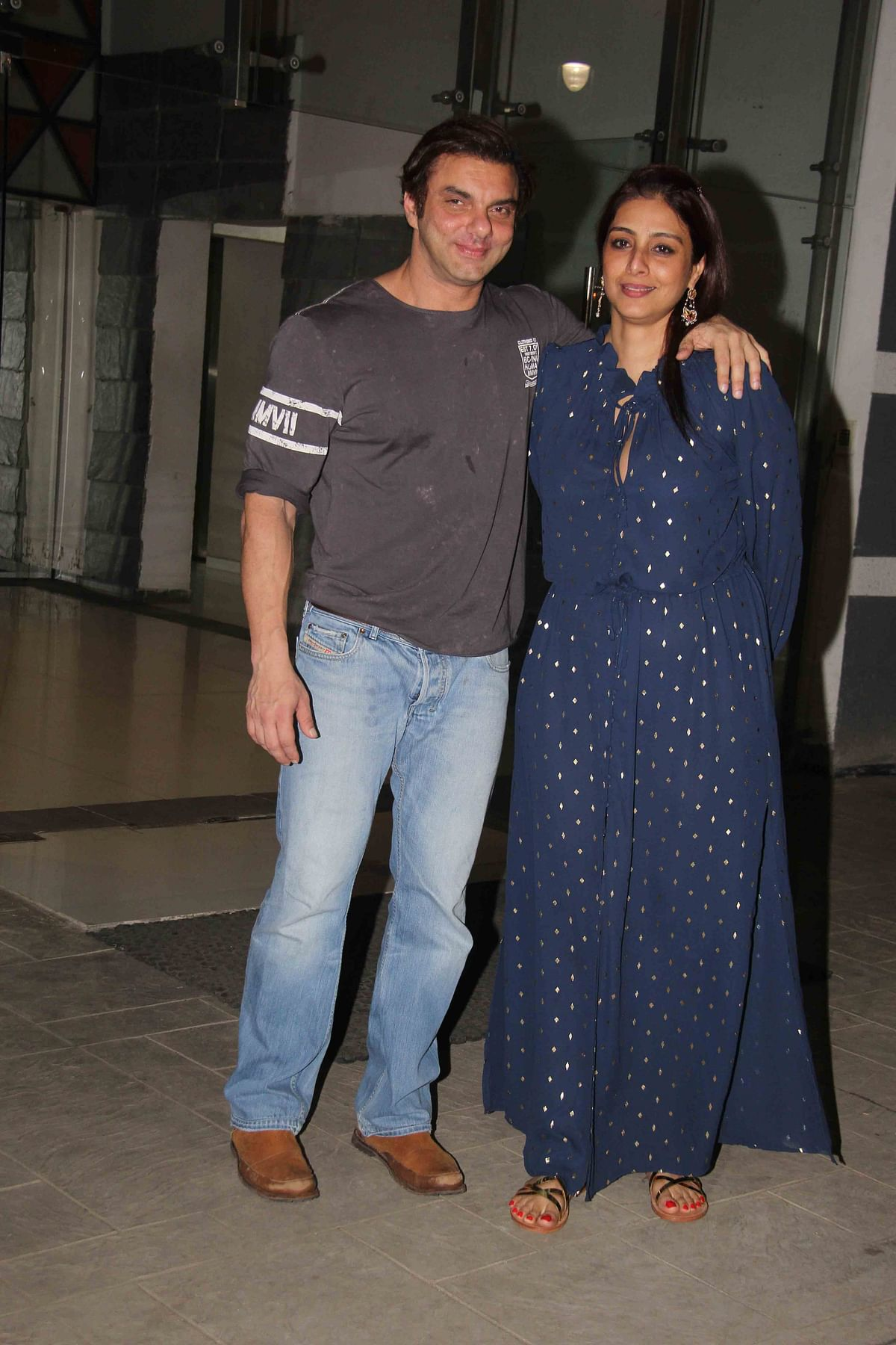 Sohail Khan poses for a picture with Tabu. (Photo: Yogen Shah)