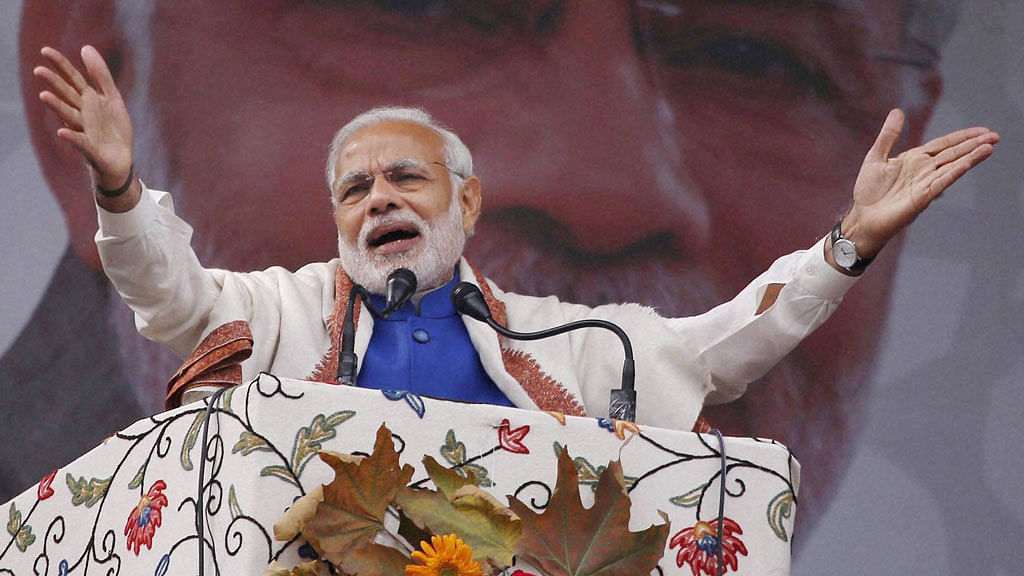 PM Modi wrongly claimed that the UPA had only created 25 lakh homes in its tenure. File image.