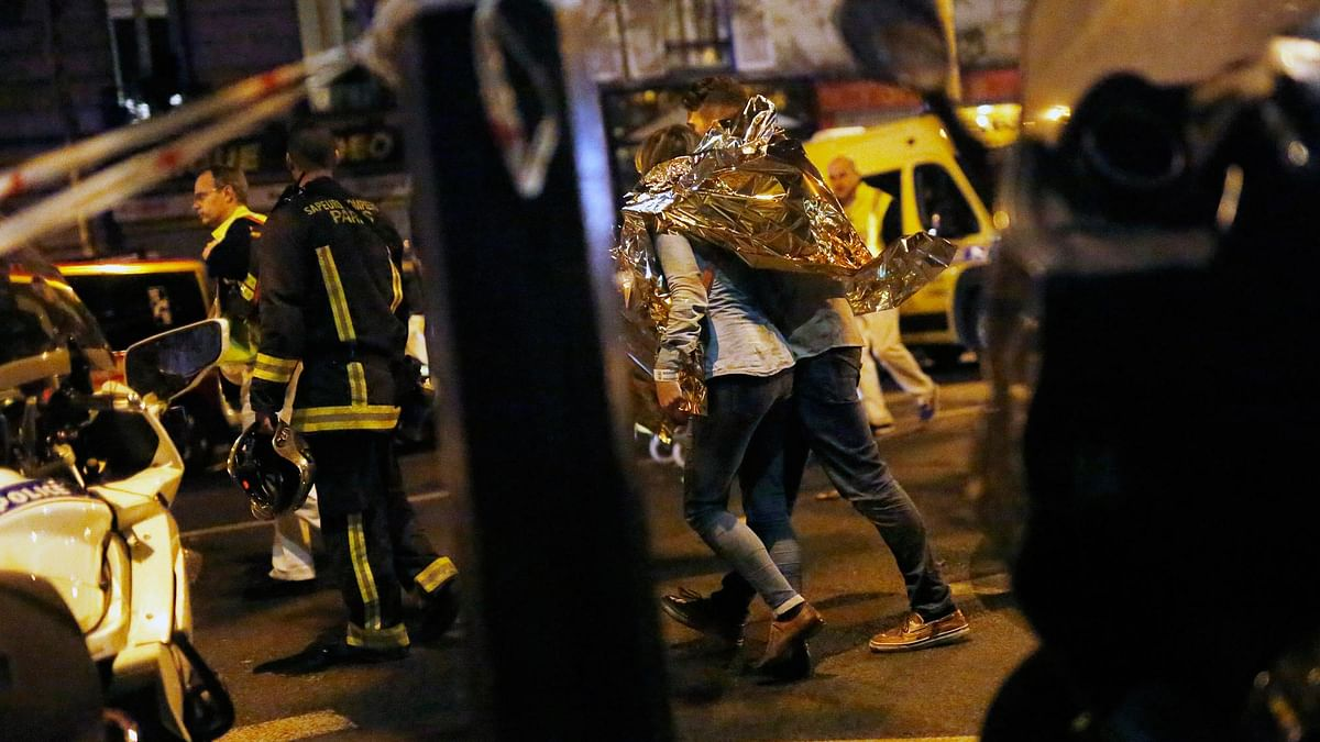 A person being evacuated after the Paris attack on November 13. (Photo: AP)