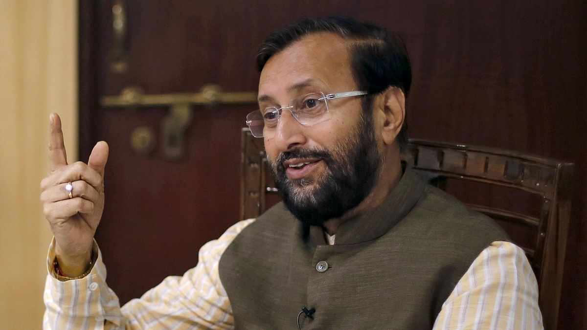 Union Environment Minister Prakash Javadekar speaks during an interview in his office in New Delhi. (Photo: Reuters)