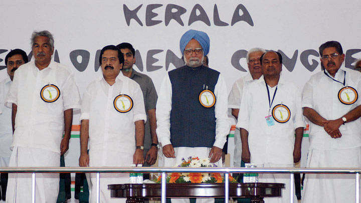 """Image of the Congress-led government in Kerala has taken a hit due to allegations of corruption against its Finance Minister, KM Mani. (Photo courtesy: <a href=""""https://www.facebook.com/udf2011/photos/pb.135503219853044.-2207520000.1446905861./136208183115881/?type=3&amp;theater"""">Facebook</a>)"""