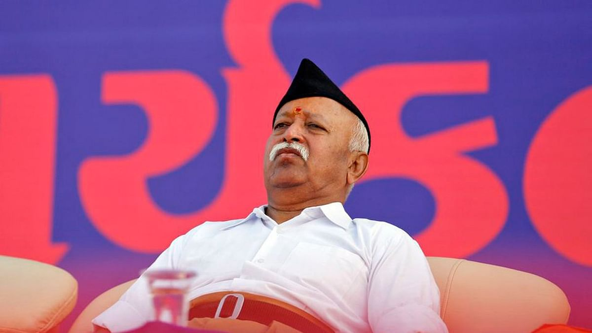 """RSS chief Mohan Bhagwat not too long ago spoke about the """"contract"""" between husband and wife. (Photo: Reuters)"""