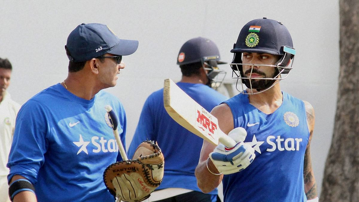 Virat Kohli attends a practice session in Nagpur on Tuesday. (Photo: PTI)