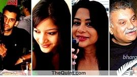 """Rahul Mukerjea, Sheena Bora, Indrani Mukerjea and Peter Mukerjea. (From left to right) (Photo: <b>The Quint</b>)<a href=""""http://www.thequint.com/section/India""""></a>"""