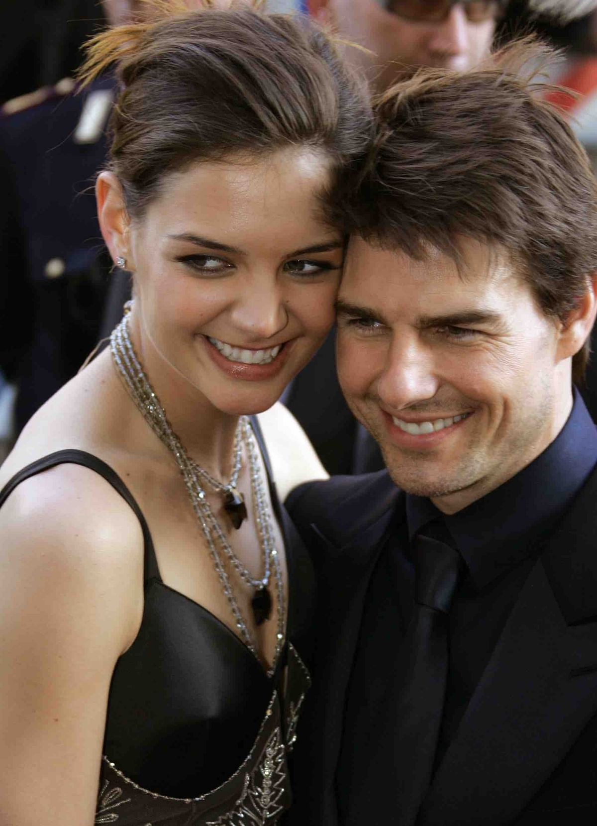 Katie Holmes and Tom Cruise: Their first appearance together in Rome (Photo: Reuters)