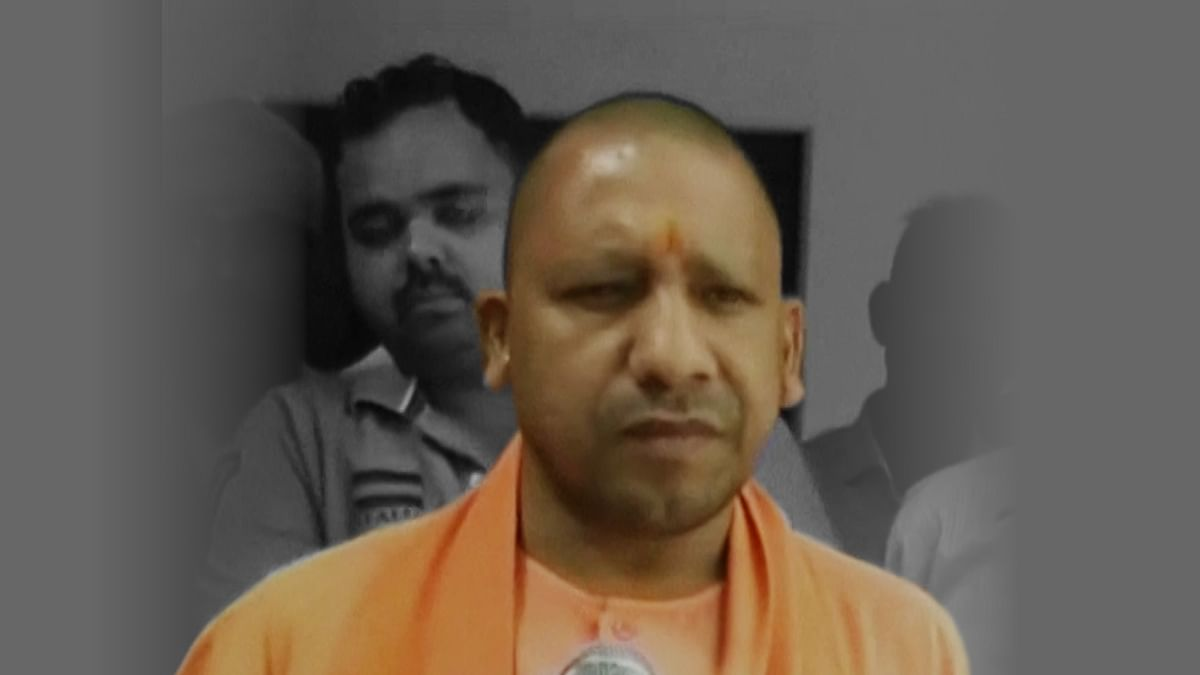 BJP MP Yogi Adityanath who demanded death penalty for cow slaughter. (Photo altered by <b>The Quint</b>)