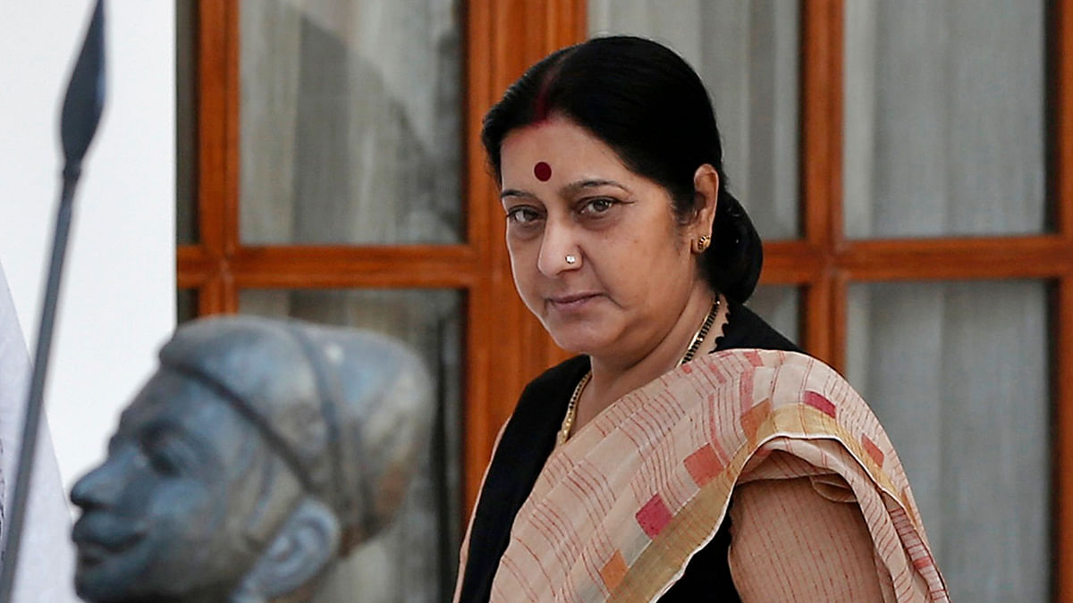 The BJP leadership has come out in staunch defence of Sushma Swaraj (Photo: Reuters)