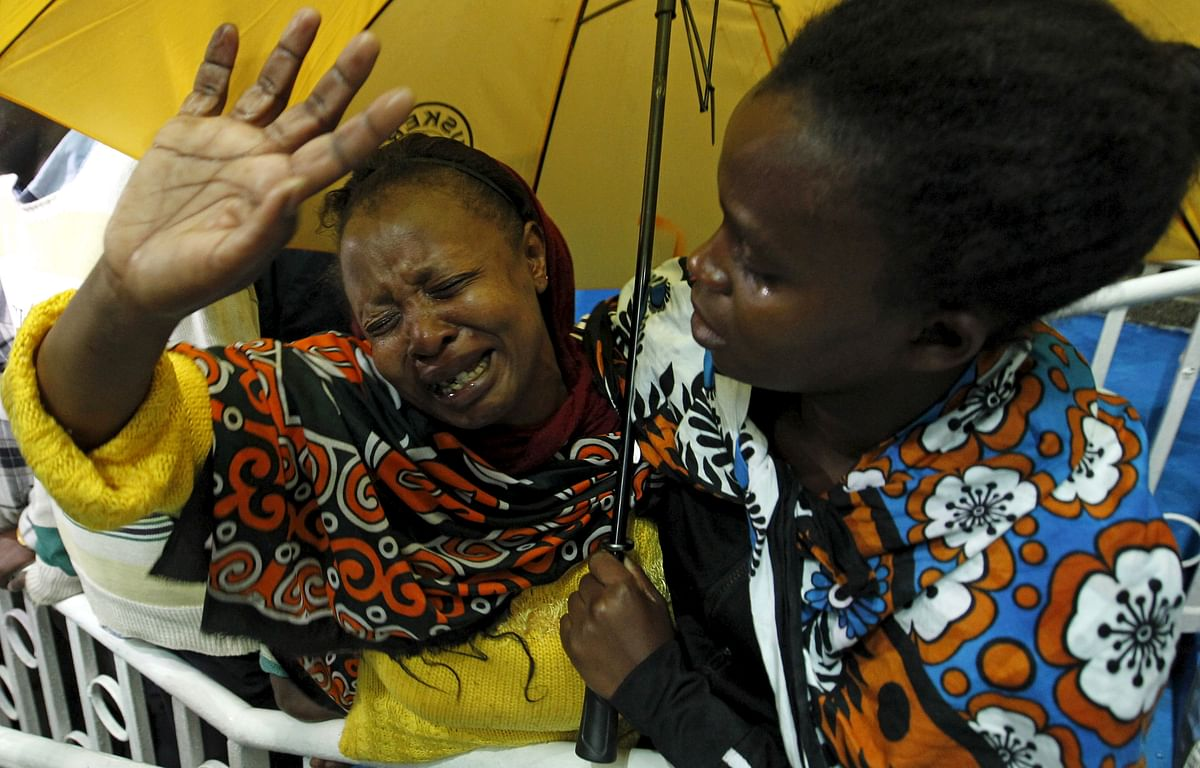A woman reacts after seeing her son who was rescued from the Garissa University attack in Kenya's capital Nairobi, April 4, 2015. (Photo: Reuters)