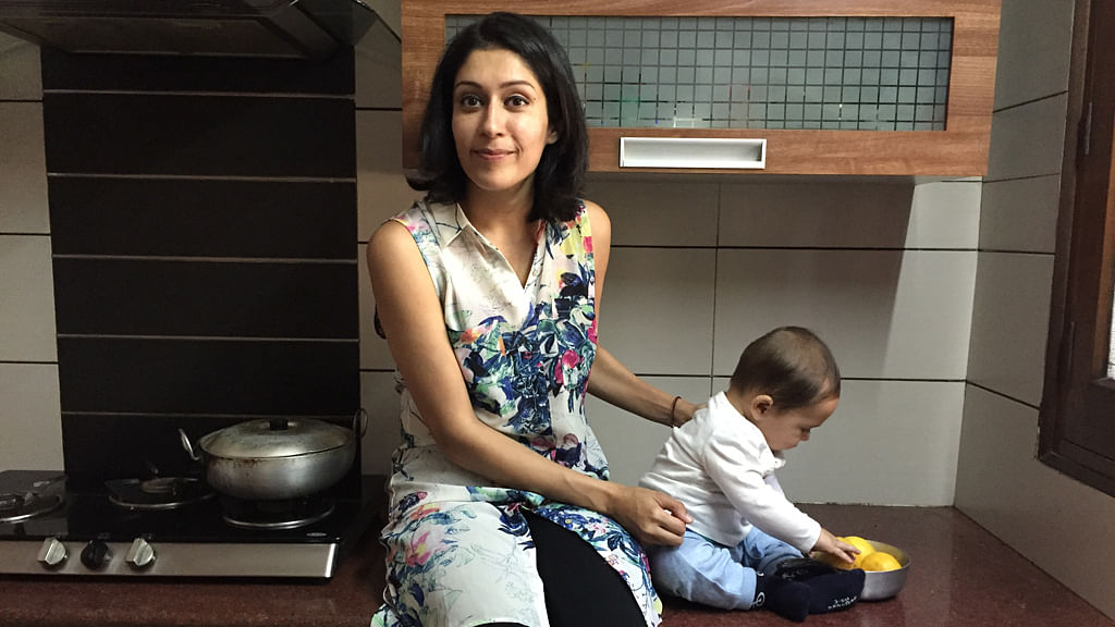 The proud mommy with her Littloo. (Photo: Simrat Ghuman)