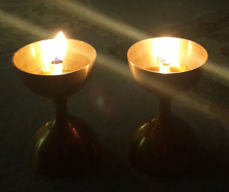 My father did not manage to gorge on mithai or watch me light diyas. (Photo Courtesy: Sangeeta Murthi Sahgal)