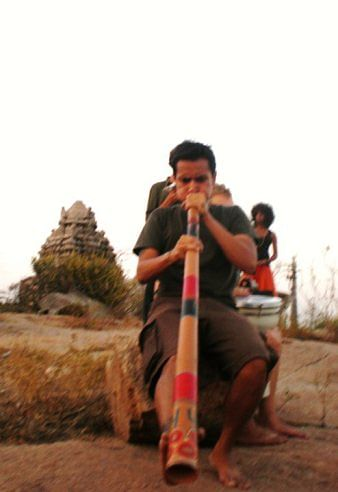 Sunset Jamming on the Rocks in Hampi. (Photo Courtesy: Sonal Kwatra Paladini/Drifter Planet)