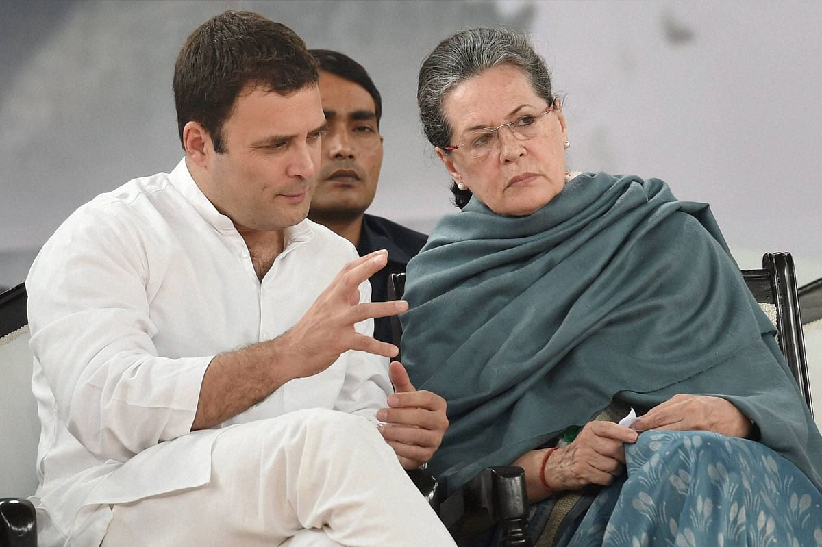 Congress president Sonia Gandhi and party vice president Rahul Gandhi in New Delhi. (Photo: PTI)