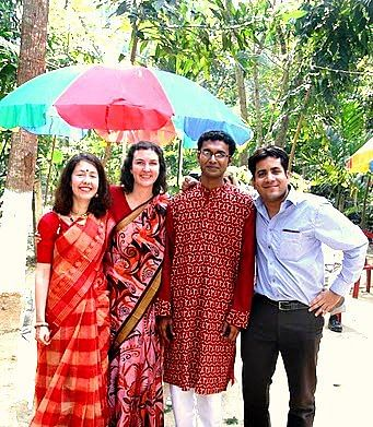 An old photograph of Clementine, Kate, Clementine's husband Tapendu and Sourav Mishra (Photo courtesy: Sourav Mishra)