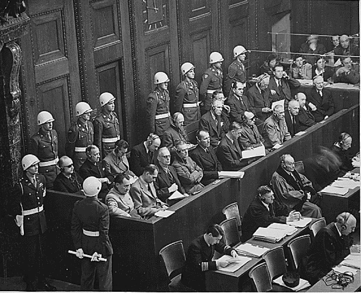 The defendants at Nuremberg sit in the dock in this file photo circa 1945-46. (Photo: Reuters)