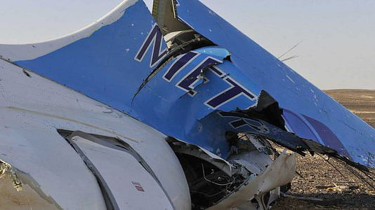 Wreckage of the Russian plane that crashed in Sinai.