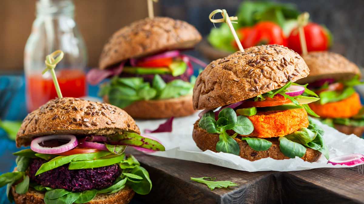 Would you believe these gorgeous burgers are vegan?